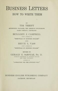 Cover of: Business letters, how to write them | Tim Thrift