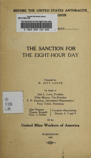 Cover of: The sanction for the eight-hour day