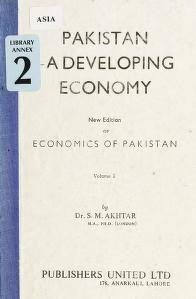 Cover of: Pakistan; a developing economy